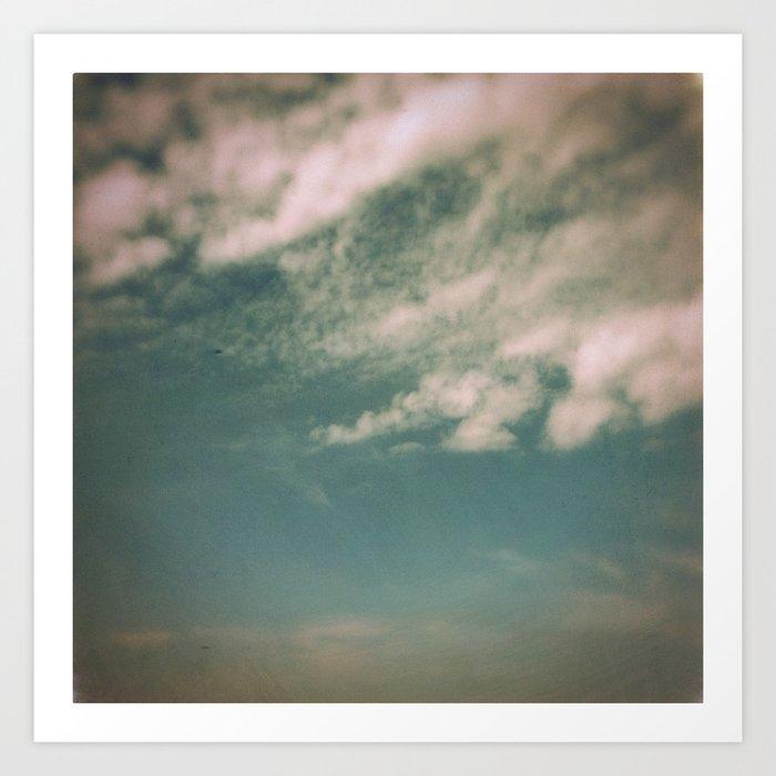 Minimal Clouds Art Print