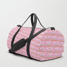 Hip-hop Trendy Rainbow Text Pattern (Pink) Duffle Bag