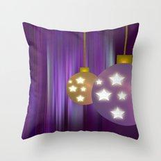 Christmas Balls Throw Pillow