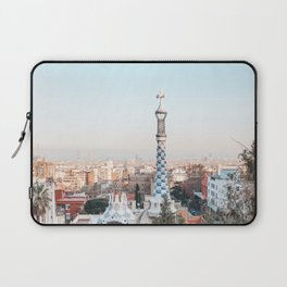 Park Guell by Gaudi at sunset   Barcelona, Spain   Travel Photography Laptop Sleeve
