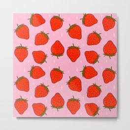 Strawberry Print Metal Print