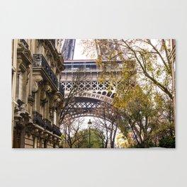 Eiffel Tower in Between Buildings Canvas Print