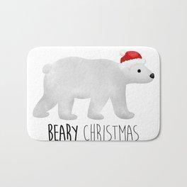 Beary Christmas   Polar Bear Bath Mat