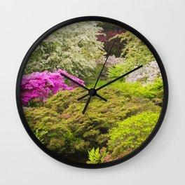 Asticou Azelea Garden, Northeast Harbor, Mount Desert Island Maine Wall Clock