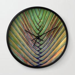 Sugar Beach Palm Wall Clock