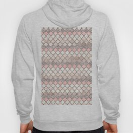 Rose Gold and Marble Decorative Square Tile Pattern Hoody
