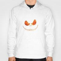 jack skellington Hoodies featuring Jack Skellington Halloween Smile Flame by alexa