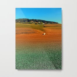 Colorful farmland scenery | landscape photography Metal Print