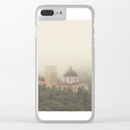 Fog Over The Shrine Clear iPhone Case