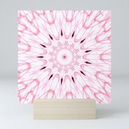 Rose Pink Mandala Explosion Mini Art Print