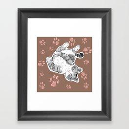 Petoux the Cat, Patterned Framed Art Print