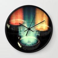 fairy tale Wall Clocks featuring fairy tale by Patrick R. Gschwind