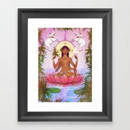 Ganja Goddess Framed Art Print