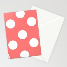 Pink polka Stationery Cards