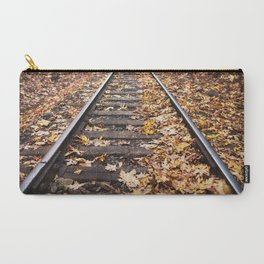 Leaves on Train Track Carry-All Pouch