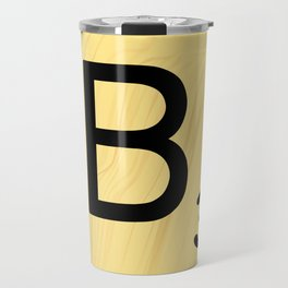 Scrabble B Decor, Scrabble Art, Large Scrabble Prints, Word Art, Accessories, Apparel, Home Decor Travel Mug