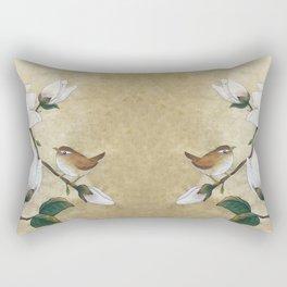 Minhwa: A Wren on the Magnolia Rectangular Pillow