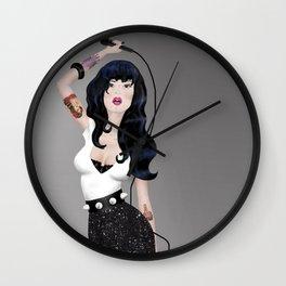 Rock Star Pin-Up Wall Clock