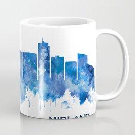 Midland Texas Skyline Blue Coffee Mug