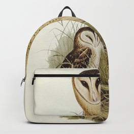 Grass-Owl (Strix candida) illustrated by Elizabeth Gould (1804-1841) for John Goulds (1804-1881) Bir Backpack