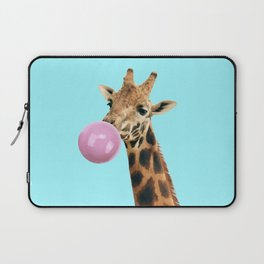 Giraffe with bubble gum Laptop Sleeve