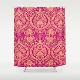 Simple Ogee Pink Shower Curtain