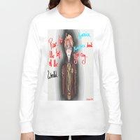 hetalia Long Sleeve T-shirts featuring America, America Don't You Cry by AquaticGalaxy