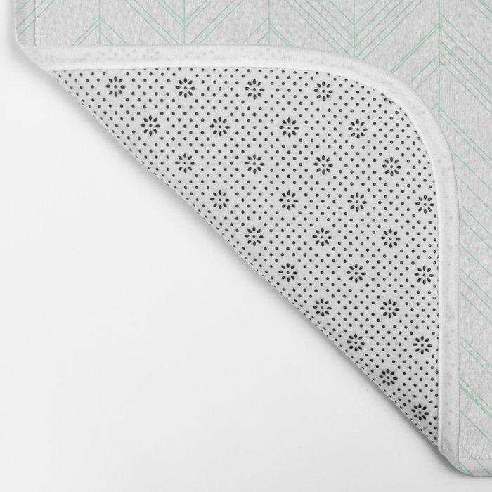 Abstract chevron pattern- light green Bath Mat