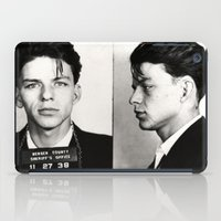 frank sinatra iPad Cases featuring Frank Sinatra Mug Shot  by All Surfaces Design