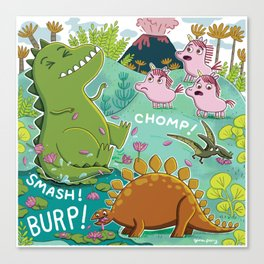 Unicorns & Dinosaurs Canvas Print
