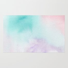 Abstract Watercolor. Sunset Rug