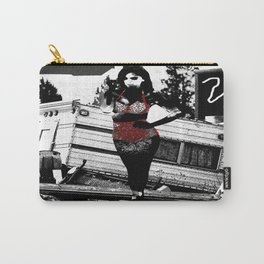 Ornamental Pinup in Black, White, and Red Carry-All Pouch