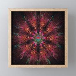 Fire Dance Mandala Framed Mini Art Print