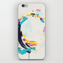 Yesterday to Tomorrow - abstract painting by Jen Sievers iPhone Skin