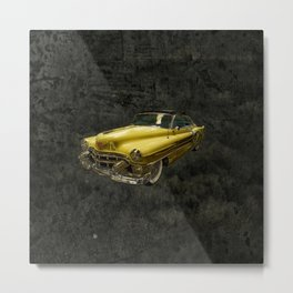 Yellow Oldtimer Metal Print