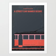 No397 My street car named desire minimal movie poster Art Print