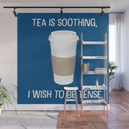 I wish to be tense (Blue) Wall Mural