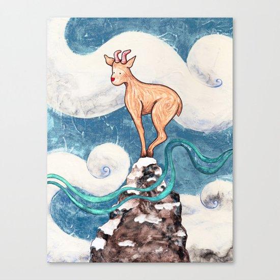 Winter Goat Canvas Print