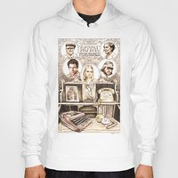 royal tenenbaums Hoodies featuring The Royal Tenenbaums by Aaron Bir by Aaron Bir