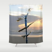 selena gomez Shower Curtains featuring Migratory Birds by Menchulica