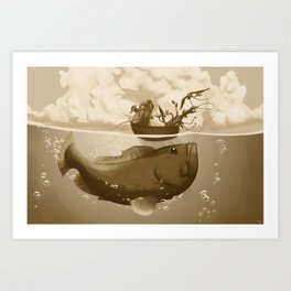 Fishing Trip Art Print