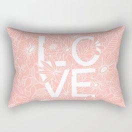 Pink Love Rectangular Pillow