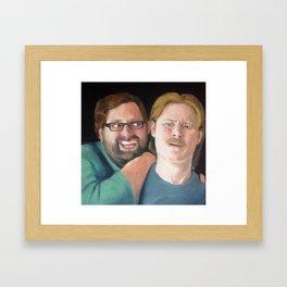 Tim and Eric Portrait Framed Art Print