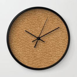 Lether skin Wall Clock