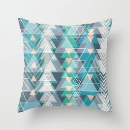 Triangle Tribe 1 Throw Pillow