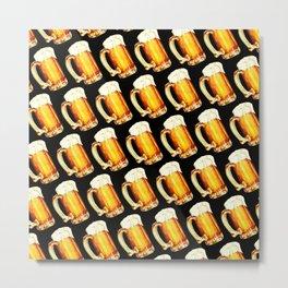 Bier Pattern Metal Print