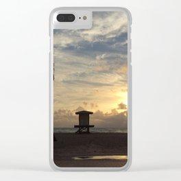 Hollywood beach Florida Clear iPhone Case