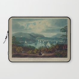 West Point, from Philipstown by W.J. Bennet (1831) Laptop Sleeve