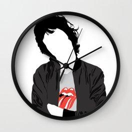 Mic Jagger - Minimal Music Art Illustration Wall Clock