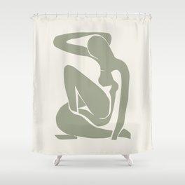 Sage Green Matisse Art, Matisse Abstract Art Decor Shower Curtain